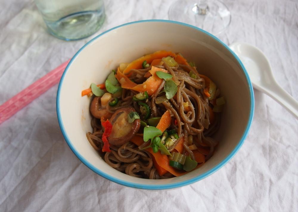 vegetarian dan-dan noodles